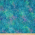 Kaufman Artisan Batiks Tiger Fish Bubble Spray Ocean