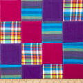 Madras Plaid Patchwork Purple