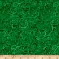 Timeless Treasures Breeze Scroll Blender Green