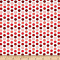 Timeless Treasures Fresh Cut Dots Red