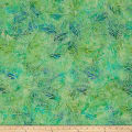 Timeless Treasures Tonga Batik Jamboree Woven Leaves Pond