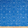 "Kaufman Fractals 108"" Wide Geo Blue"