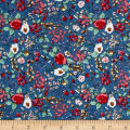Telio Hampton Court Cotton Poplin Print Blue