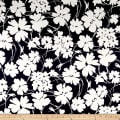 Telio Bloom Stretch Cotton Sateen Flower Print Navy/Cream