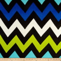 Chiffon Chevron Encounter Blues and Black