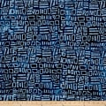 Indian Batik Moody Blues Squares Blue