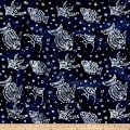 Indian Batik Ocean Grove Fish Navy/White