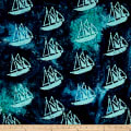 Indian Batik Ocean Grove Sail Boat Navy/Aqua