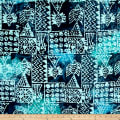 Indian Batik Ocean Grove Island Patch Navy/Aqua