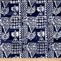 Indian Batik Ocean Grove Island Patch Navy/White