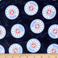 Cotton + Steel Rotary Club Dials Navy