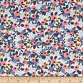 Cotton + Steel Rifle Paper Co. Les Fleurs Rosa Periwinkle