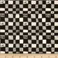 Cotton + Steel Printshop Grid Dark Charcoal