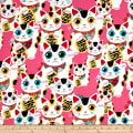 Alexander Henry Indochine Fuku Kitty Pink