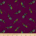 Mary Fons Small Wonders Brazil Digital Print Pretty Bird Purple
