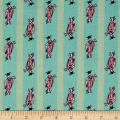 Mary Fons Small Wonders Japan Digital Print Kimono Stripe Teal