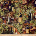 Mia Sonoma County Digital Print Vintage Wine Multi
