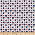Patriotic Prints Packed Stars White