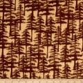 Wilderness Flannel Trees Light Brown