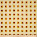 School House Fancies Scrabble Tiles Cream Multi