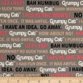 Marcus Grumpy Cat Words Gray