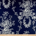 Waverly Country House Toile Indigo Blue