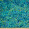 Timeless Treasures Tonga Batik Peacock Picket Fence Island