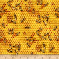 Bees and Flowers Honeycomb Honey