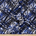 Hatchi Lightweight Sweater Knit Contemporary Print Royal Blue / Black