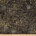 Moda Modern Backgrounds Luster Metallic Cloth Pattern Charcoal