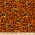 Fabric Merchants Cotton Spandex Jersey Knit Felix Binx Halloween Orange Multi