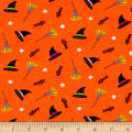 Cotton Spandex Jersey Knit Magic Brewing Halloween Grey Multi