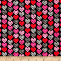 Adore Small Hearts Black