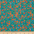 Woodsy Wonders Flower Dot Teal