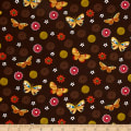 Spice Garden Tossed Butterflies Brown