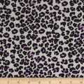 Blousewear Crepe Georgette Cheetah Purple