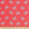 Storybook Americana USA Bows Red