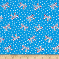 Storybook Americana USA Bows Blue