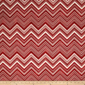 Bella Casa ZigZag Cherry/White