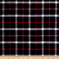 Kaufman Tahoe Flannel Plaids 7.2 Oz Double Brushed Small Check Navy