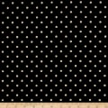 Kaufman Sevenberry Canvas Natural Dots Small Black