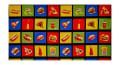 """Takeout Food in 27"""" Squares Panel Multi"""