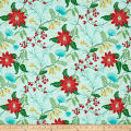 Timeless Treasures Crafty Gemini Dominicana Large Floral Aqua