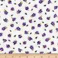 Everything But The Kitchen Sink Pindot Posies Wisteria
