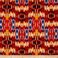 Tango Digital Print Abstract Ikat Flame