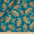 Kaufman La Scala 7 Metallic Large Paisley Jewel