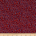 Kanvas Love American Style Ditsy Dots Navy/Red
