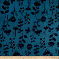 Kokka Trefle Nature Double Gauze Blue Black