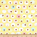 Cosmo The Flock Sheep Printed Double Gauze Yellow