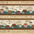 But First, Coffee! Repeating Stripe Multi
